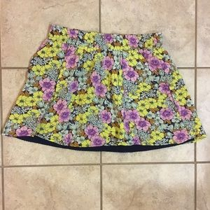 Anthropology Leifnotes Floral Skirt
